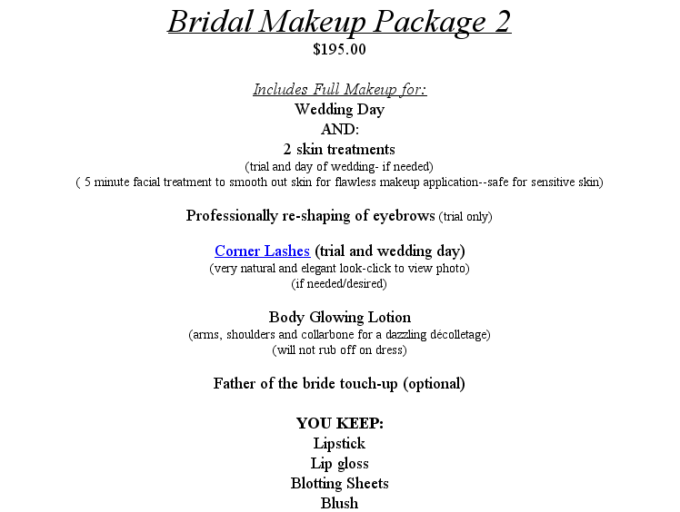 Airbrush Makeup For Bridal Party Attendants Family Is Separate From The Packages Bride 70