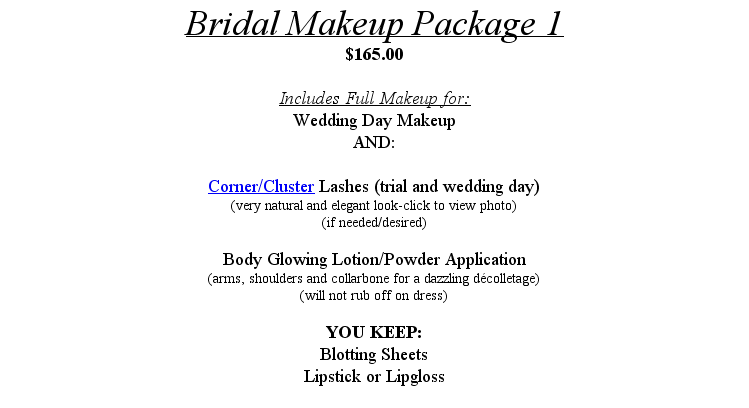 Hair And Makeup Wedding Package Offer Pictures to pin on ...
